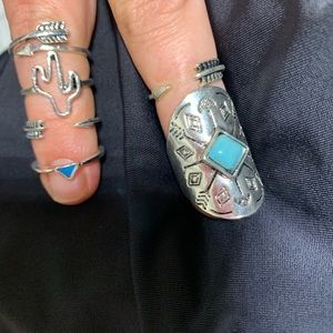 Jewelry - Silver finger rings 6